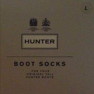Hunter boots socks, size large color black